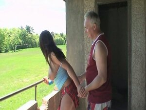 Balcony old man sex