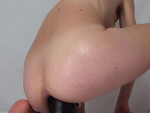 Bottle huge dildo fuck