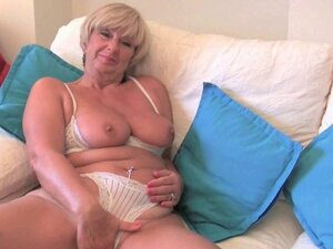 British video: hot granny masturbates
