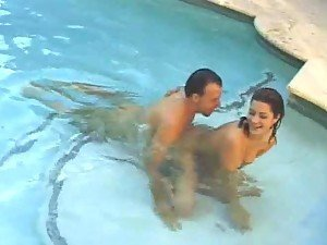Swimming hot outdoor sex