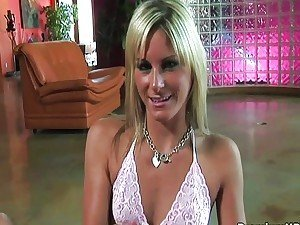 Handjob video: blonde girls naked